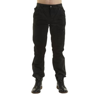 Excelled Men's Black Cotton Peached Pants