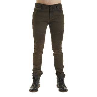 Excelled Men's Moto Green Cotton Jean