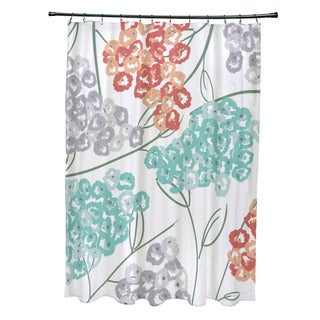 71 x 74-inch Hydrangeas Floral Print Shower Curtain