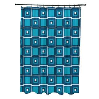 71 x 74-inch Square Pop Geometric Print Shower Curtain