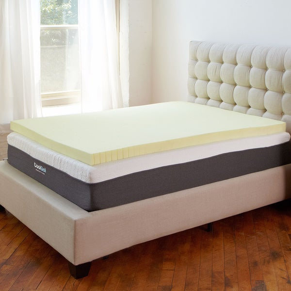 PostureLoft Ventilated 3-inch Memory Foam Mattress Topper