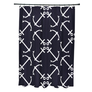 71 x 74-inch Anchor's Up Geometric Print Shower Curtain