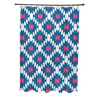 71 x 74-inch Jodhpur Kilim 2 Geometric Print Shower Curtain