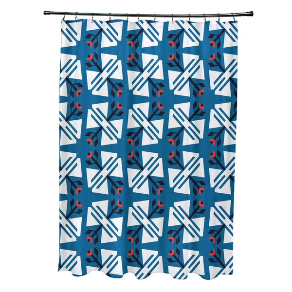 71 x 74-inch Jodhpur Ditsy Geometric Print Shower Curtain
