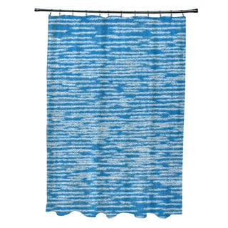 71 x 74-inch Marled Knit Geometric Print Shower Curtain