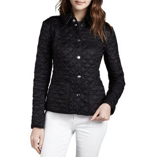 Burberry Women's Kencott Black Nylon Quilted Lightweight Jacket