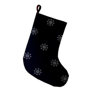 9 x 16-inch Falling Snow Decorative Holiday Geometric Print Stocking