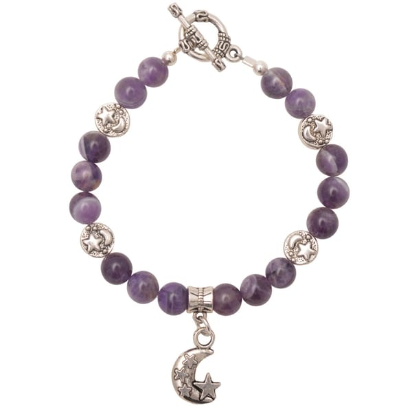 Healing Stones for You Dogtooth Amethyst Celestial Bracelet