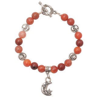 Healing Stones for You Fire Agate Celestial Bracelet