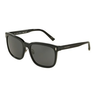 D&G Men's DG4271 501/87 Black Plastic Square Sunglasses