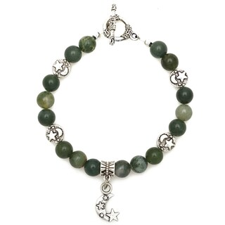 Healing Stones for You Moss Agate Celestial Bracelet