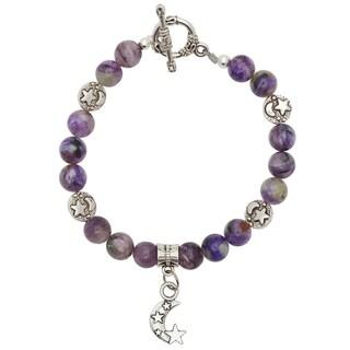 Healing Stones for You Charoite Celestial Bracelet