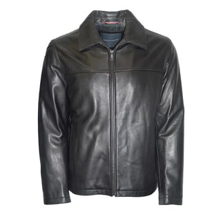 Tommy Hilfiger Men's Black Cowhide Leather Fully Lined Jacket