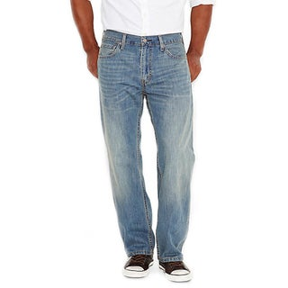 Levi's Men's 569 Blue Cotton Straight Leg Loose Jeans