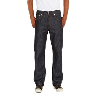 Levi's Men's 569 Blue/Black Cotton Loose-fit Straight-leg Jeans