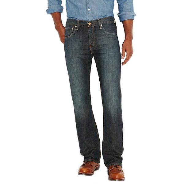 Levi's Men's 527 Blue/Black Cotton Dark Wash Low Cut Jeans
