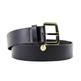 Patrizia Pepe Women's Black Leather 35-inch Belt