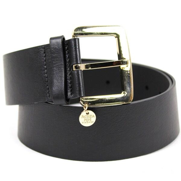 Patrizia Pepe Women's Black Leather 36-inch Belt