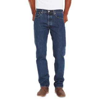 Levi's Men's 501 Blue Cotton Original-Fit Jeans