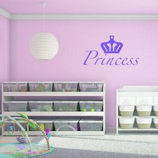 'Princess' Purple Vinyl Wall Decal