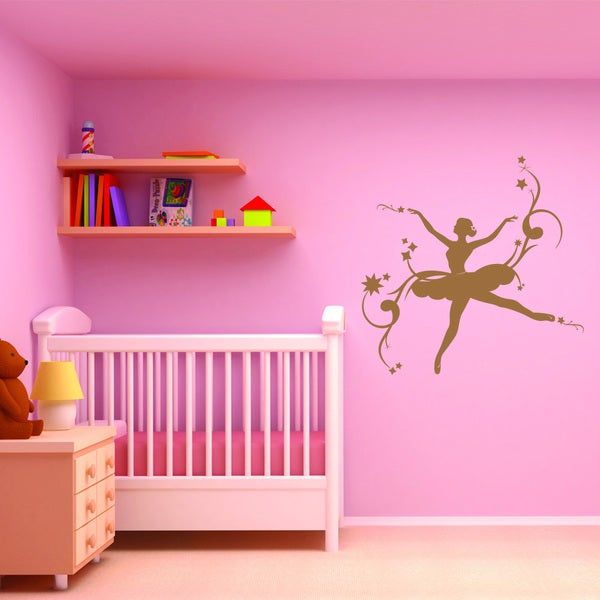 'Ballerina II' Brown Vinyl Wall Decal