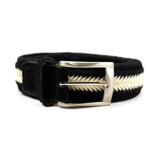 Zerbini Women's Black Textile 36-inch Belt