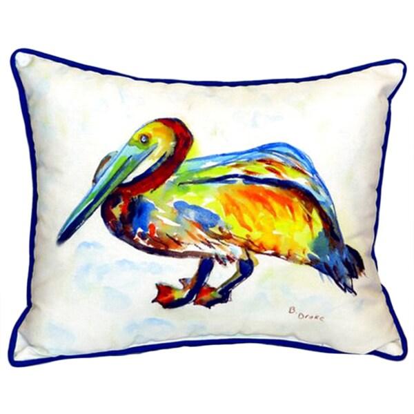 Gertrude Pelican 16x20 Indoor/Outdoor Throw Pillow