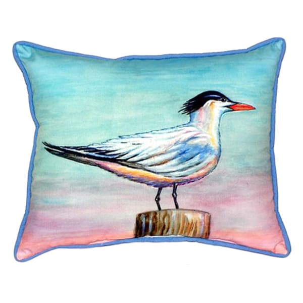 Betsy Drake Royal Tern Multicolor Polyester 20-inch x 24-inch Indoor/Outdoor Throw Pillow