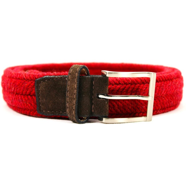 Zerbini Women's Red Textile Belt