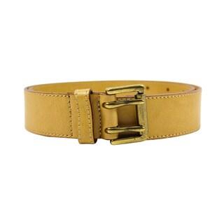 Master by Nannini Women's Beige Leather Belt