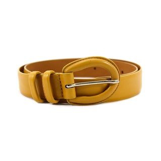 Orciani Women's Brown Leather 32-inch Belt