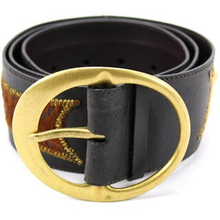 Claudio Orciani Women's Brown Leather Belt
