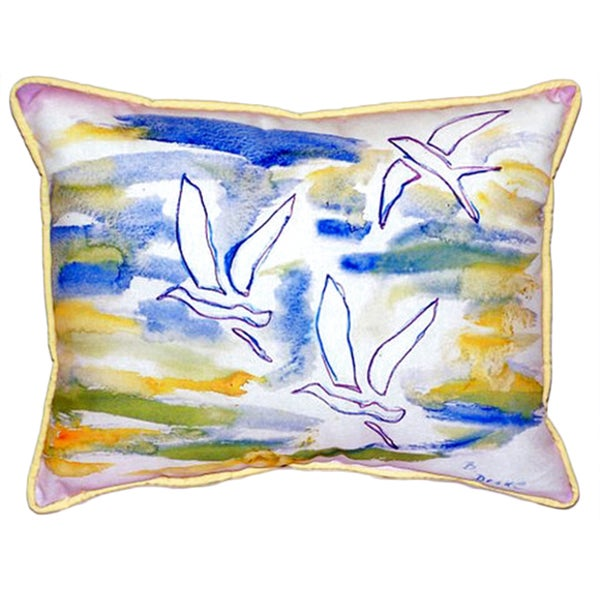 Three Gulls Multi-color Polyester Indoor/Outdoor Throw Pillow