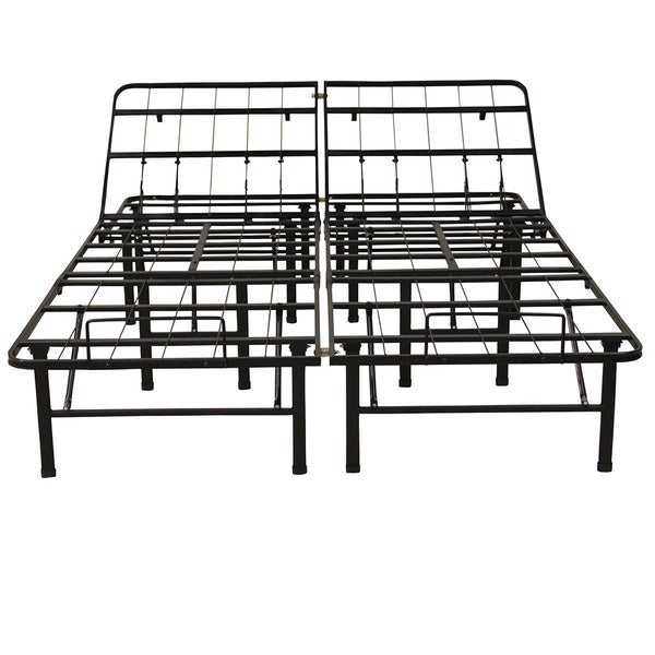 PostureLoft Hercules Heavy-duty Metal Adjustable California King-size Mattress Foundation