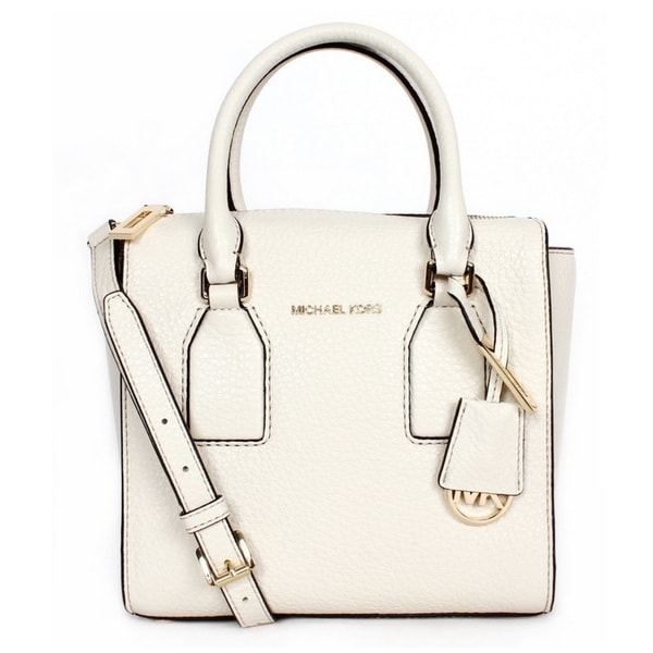 Michael Kors Selby Medium Top-Zip Ecru Crossbody Handbag