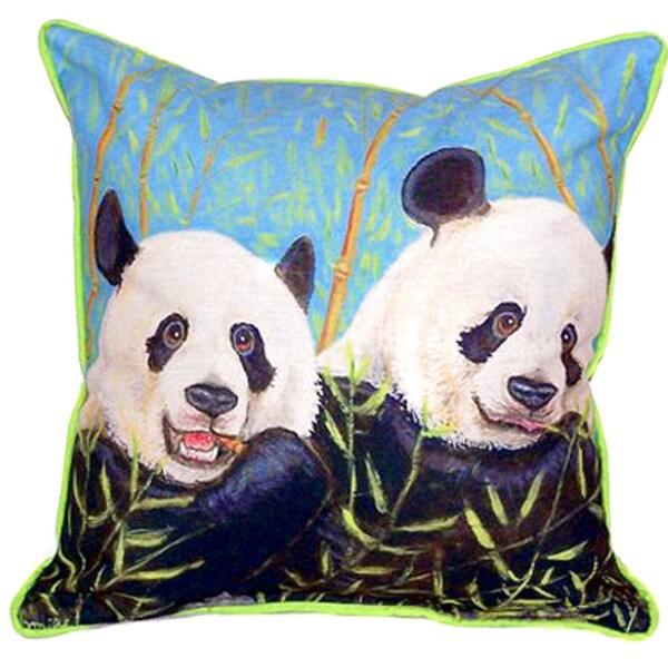 Pandas 22x22 Indoor/Outdoor Throw Pillow