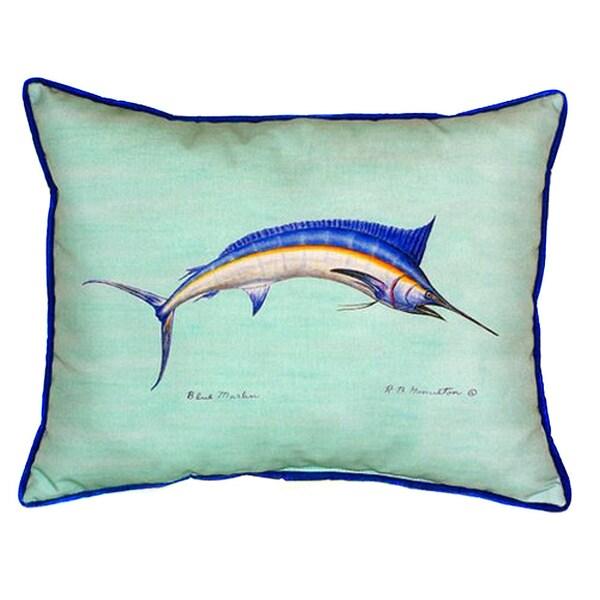 Blue Marlin Teal 20-inch x 24-inch Indoor/Outdoor Throw Pillow