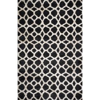 Christopher Knight Home Victoria Priscilla Black Geometric Rug (5' x 8')