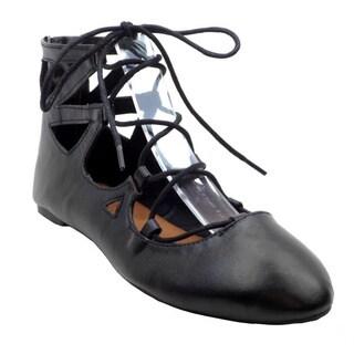 Ghillie Women's Black Faux-suede Ballet Flats