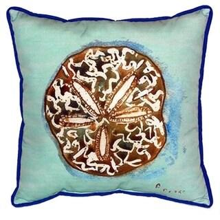 Sand Dollar Teal 22-inch x 22-inch Indoor/Outdoor Throw Pillow