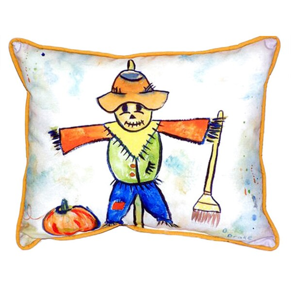 Scarecrow Multicolor Polyester 16-inch x 20-inch Indoor/Outdoor Throw Pillow