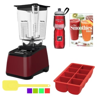 Blendtec WildSide Designer 625 Blender Bundle, Pomegranate
