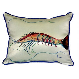 Betsy Drake Interiors Betsy's Shrimp Multicolored Polyester 16-inch x 20-inch Throw Pillow
