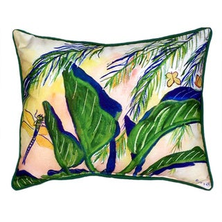 Betsy Drake Elephant Ears Multicolor Polyester 20-inch x 24-inch Indoor/Outdoor Throw Pillow