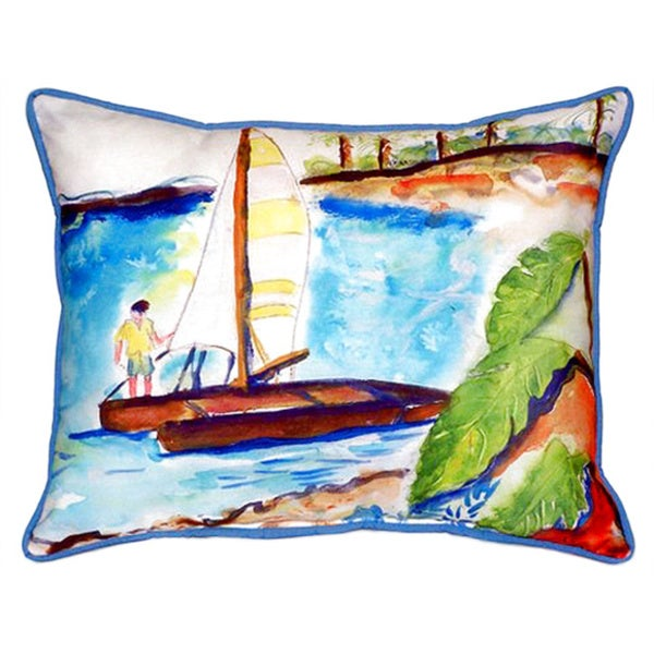 Catamaran 20-inch x 24-inch Indoor/Outdoor Throw Pillow