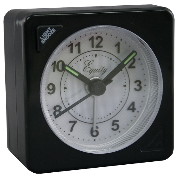 "Equity 20078 2.5"" Battery Operated Quartz Travel Alarm Clock"