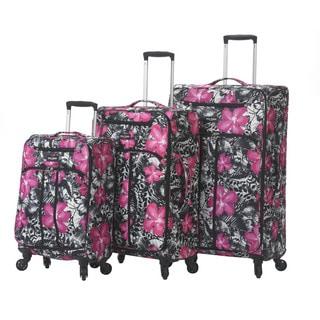 Mia Toro Italy Ibisco 3-piece Expandable Fashion Spinner Upright Luggage Set