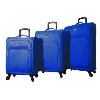 Mia Toro Italy Vernazza 3-piece Expandable Spinner Upright Luggage Set