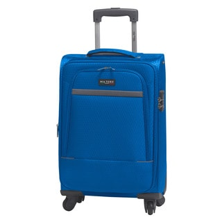 Mia Toro Italy Madesimo 20-inch Expandable Carry-on Spinner Upright Suitcase