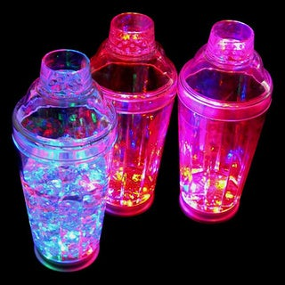 Multicolored LED Flashing Light-up Martini and Cocktail Shaker With Strobe Effects